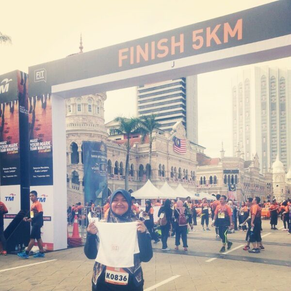 My second 5km run for Fit Malaysia Running Event.