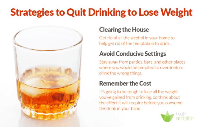 Elakkan alkohol.